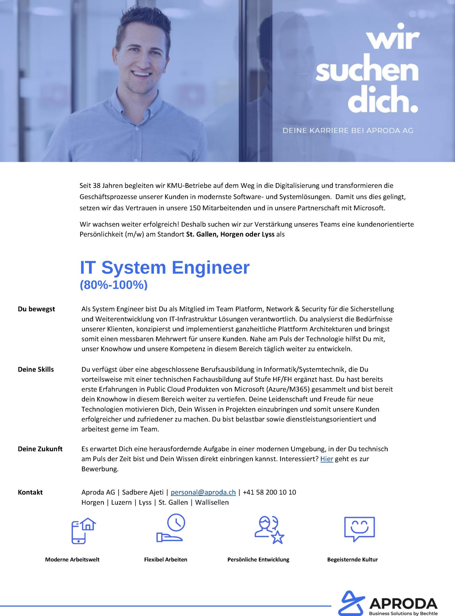 Inserat IT System Engineer