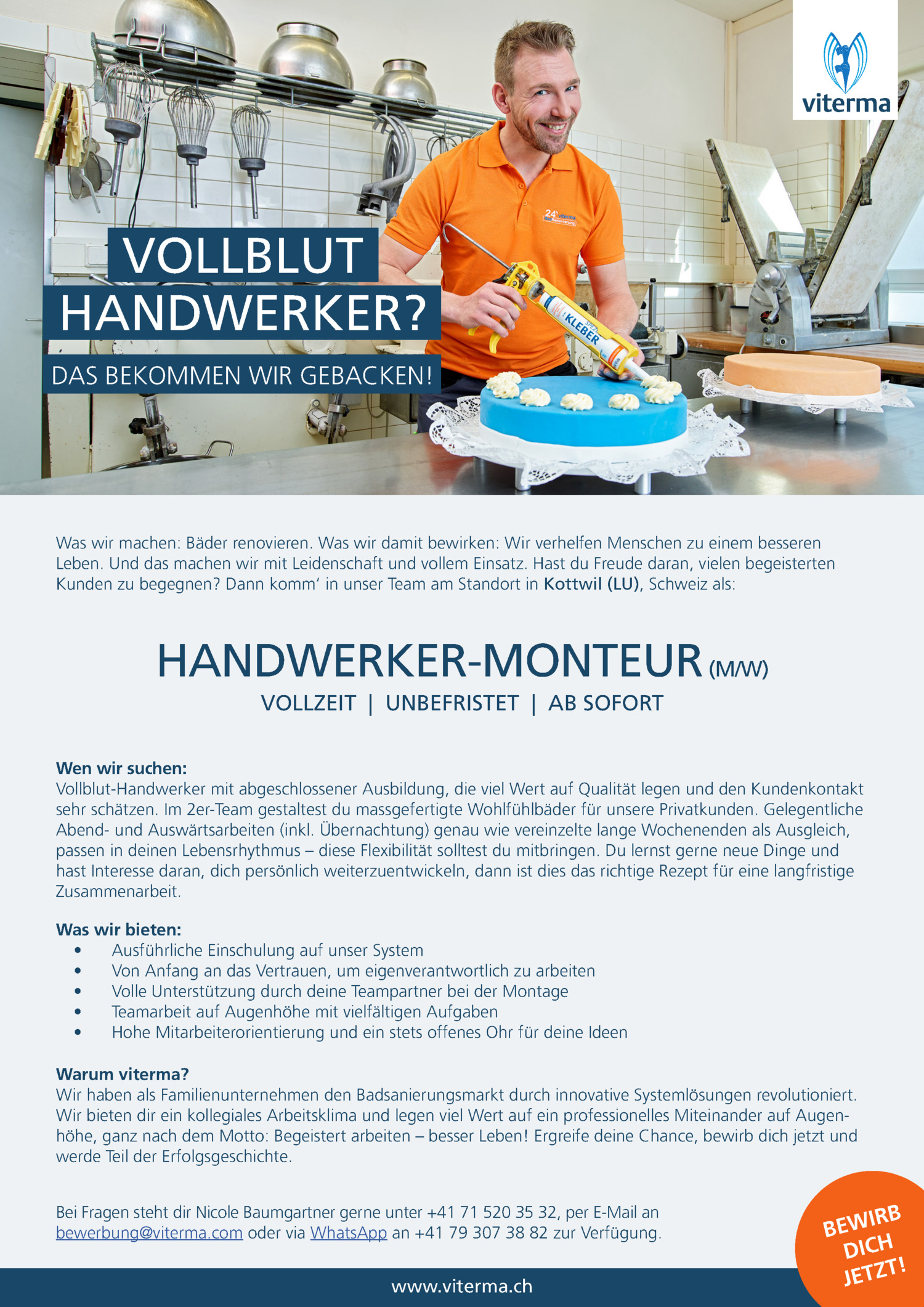 Inserat Handwerker-Monteur (m/w)